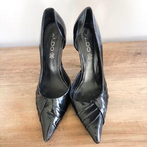 ALDO Black Patent Pointy Toe Heel